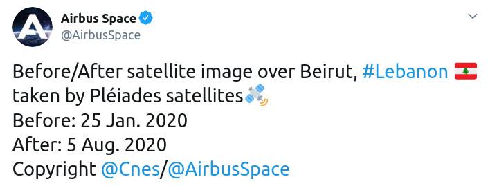 Скриншот сообщения Airbus Space в Twitter