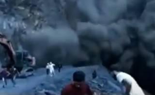 Появилось видео, как в России гора обрушилась на людей