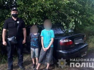 Под Киевом малолетние братья угнали машину и попали на ней в ДТП