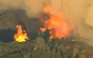 Калифорнию охватил гигантский лесной пожар