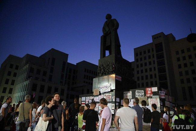 Памятник Ленину в центре Минска