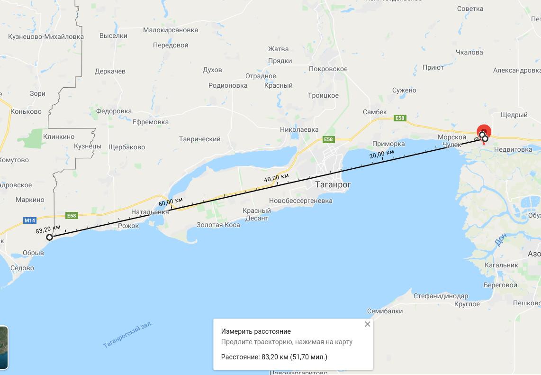 Карта Ростовской области РФ