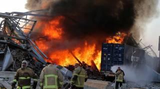 В интернете появились жуткие кадры взрыва в больнице Бейрута в режиме реального времени