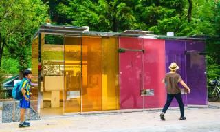 На улицах Токио появились прозрачные и «бумажные» туалеты