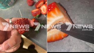 Австралиец хотел угостить дочь клубникой и обнаружил в ней швейную иглу