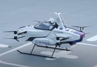 Японцы создали очень необычный летающий автомобиль