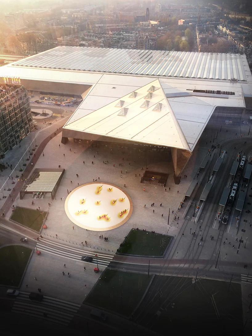 Проект вокзальной площади с социальной дистанцией в Роттердаме