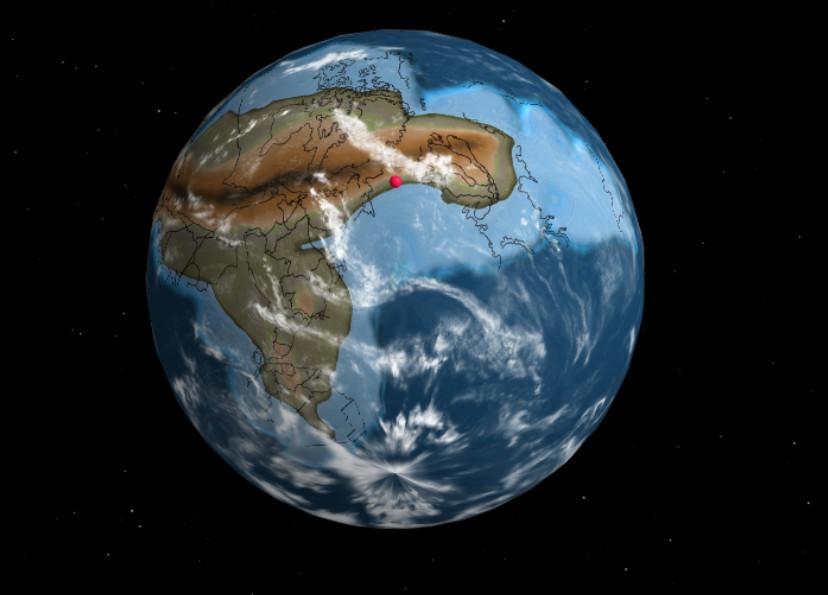 Место расположения современного Киева на Земле 750 млн лет назад