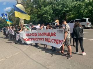 Украинцы вышли в поддержку прокуратуры против фермерского хозяйства «Мрия»