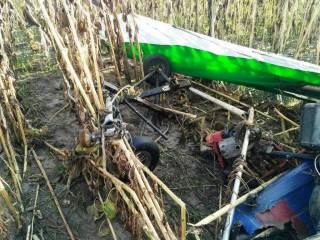 В Житомирской области рухнул рабочий дельтаплан
