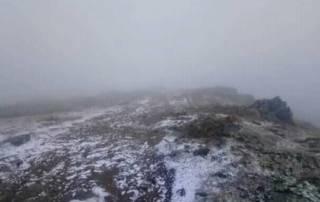 В Украине пошел первый снег