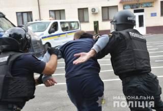 Одесские силовики потренировались разгонять протесты под крики «Банду геть»