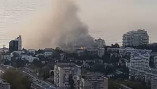 Появилось видео гигантского пожара в Ялте