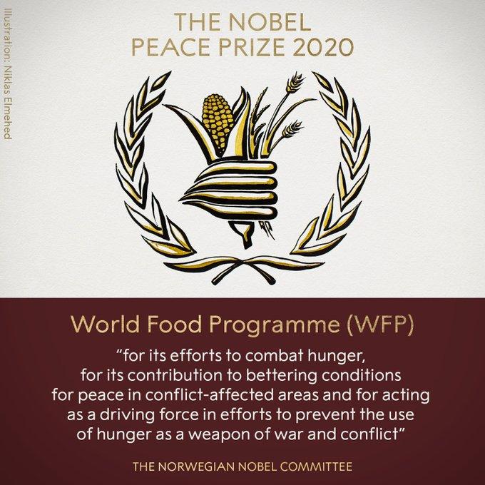 Нобелевская премия мира 2020