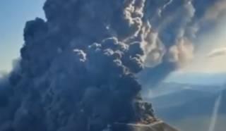 Эпичное извержение российских вулканов попало на видео
