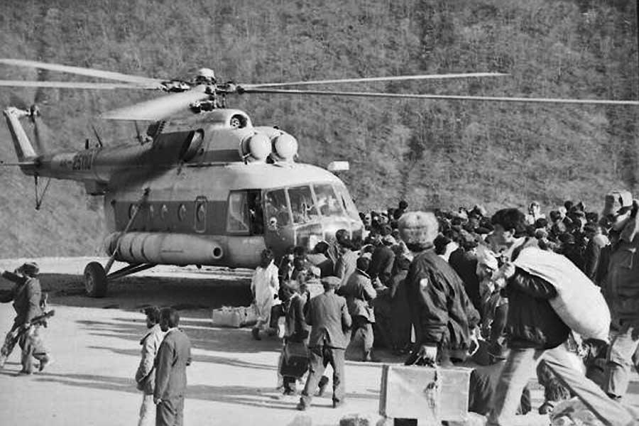 Эвакуация вертолет