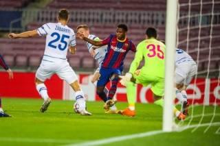 Лига чемпионов: «Динамо» в достойнейшем матче уступило на выезде «Барселоне»