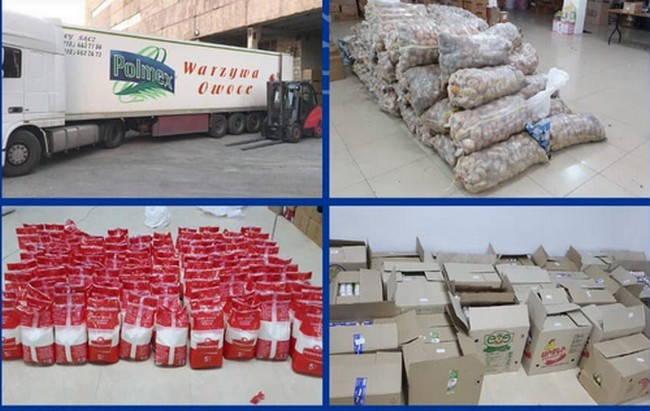 Гуманитарная помощь Союза армян Украины Еревану