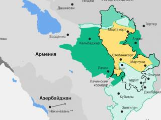 Результаты войны в Нагорном Карабахе показали на карте