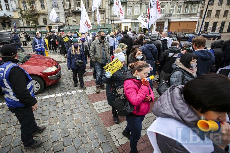 Акция протеста рестораторов против введения карантина выходного дня