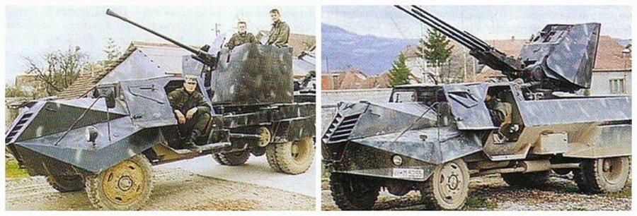 «гантрак» из грузовика ТАМ-110 и 20-мм зенитной пушкой М55А3