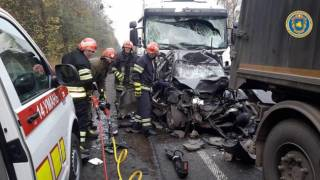 Жуткое ДТП на Черкасчине: два грузовика смяли в лепешку «Ланос»