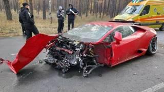 Киношники разбили Lamborghini за $270 тыс. в лесу под Киевом
