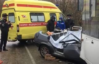 Появилось видео с места жуткого ДТП в Крыму