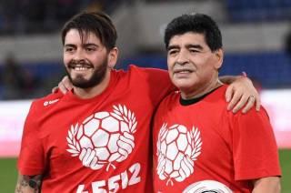 Сын Марадоны оказался в больнице в день смерти отца