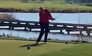 Трамп опозорился, играя в гольф: появилось пикантное видео