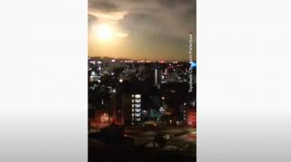 В небе над Японией замечен «огненный НЛО»