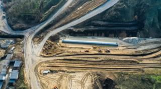 Под Днепром продолжается строительство Южного обхода