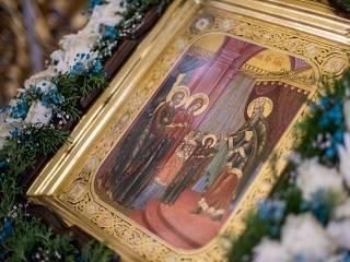 В Киево-Печерской лавре верующие УПЦ празднуют Введение во храм Пресвятой Богородицы