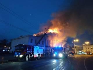 В самом центре Полтавы горит здание, построенное еще при Котляревском