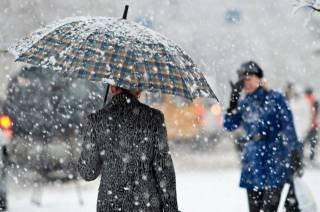 На следующей неделе в Украине продолжит валить мокрый снег