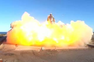 Первый полет корабля, на котором человечество должно отправиться на Марс, окончился красочным взрывом
