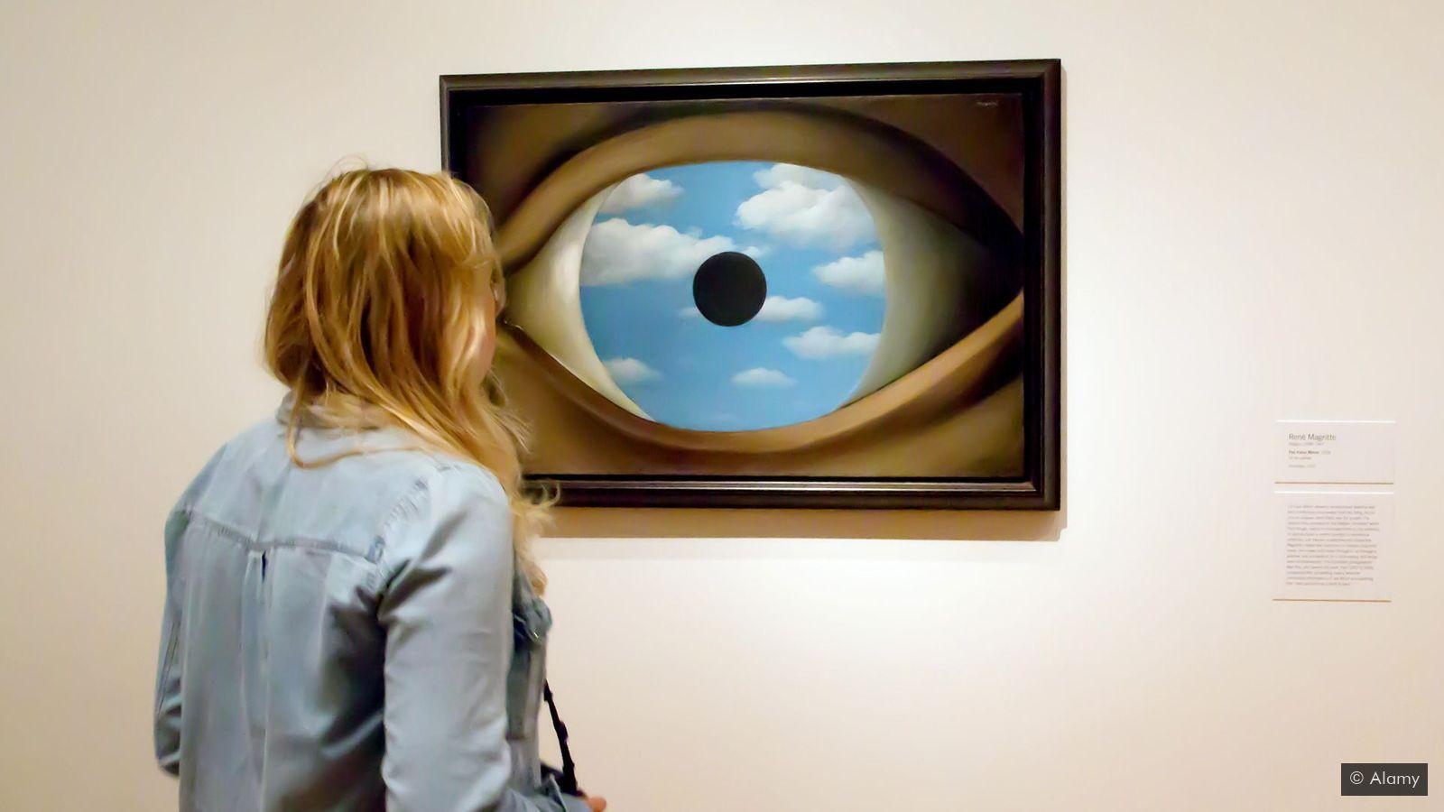 «Фальшивое зеркало» Рене Магритт
