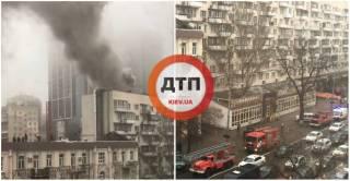 В киевской многоэтажке горел ресторан. К счастью, обошлось без жертв