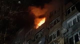 Появилось видео страшного пожара в Кропивницком