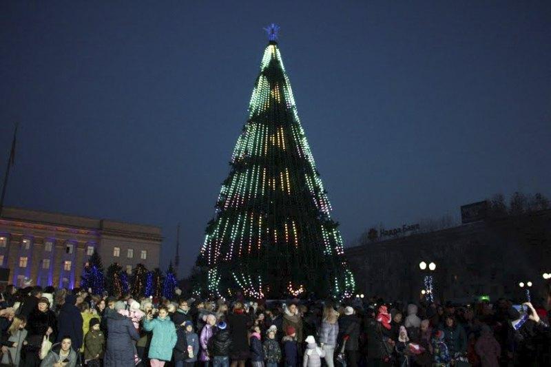 Новогодняя елка в Херсоне