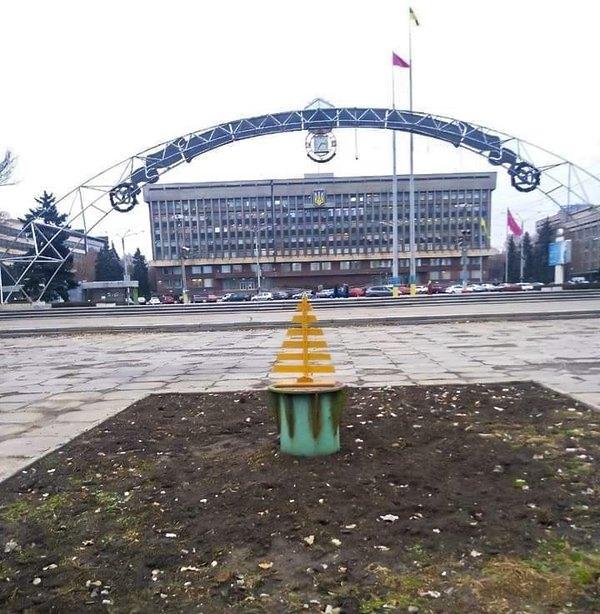 Новогодняя елка в Запорожье
