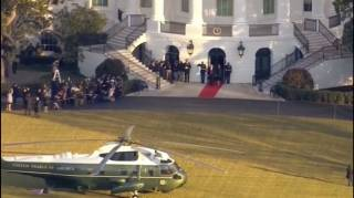 «Прощаемся мы ненадолго»: Дональд Трамп улетел из Белого дома