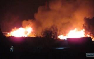 Под Одессой произошел масштабный пожар на базе отдыха