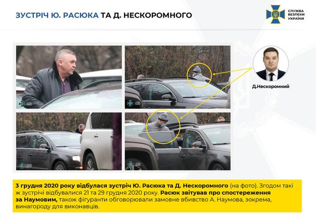 Встреча Юрия Расюка и Дмитрия Нескоромного