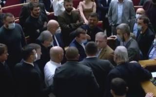 Депутаты немного поколотили друг друга под куполом Рады