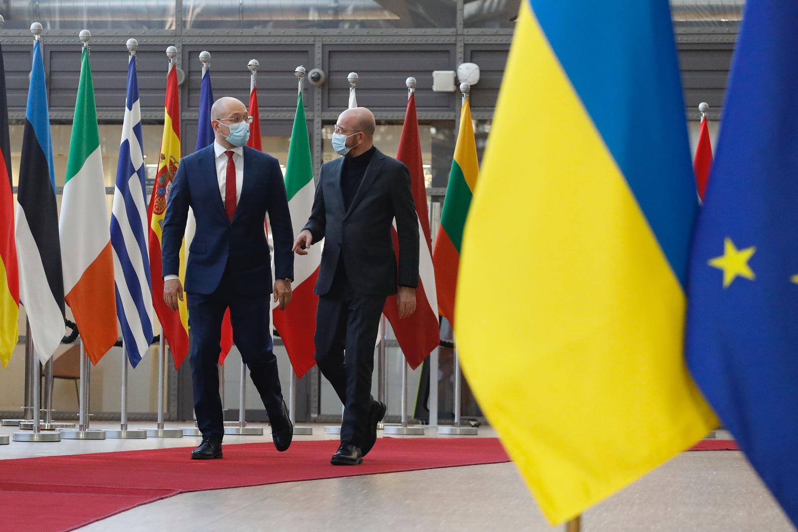 «Братья-близнецы» премьер-министр Украины Денис Шмыгаль и президент Европейского совета Шарль Мишель