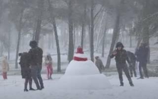 Появилось видео снегопадов в Африке