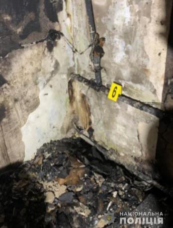 Место жестокого убийства женщины в Харькове