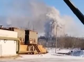 Появилось видео химического ЧП в Калуше