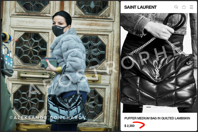 Народный депутат Оксана Дмитриева с сумкой Saint Laurent за $2350